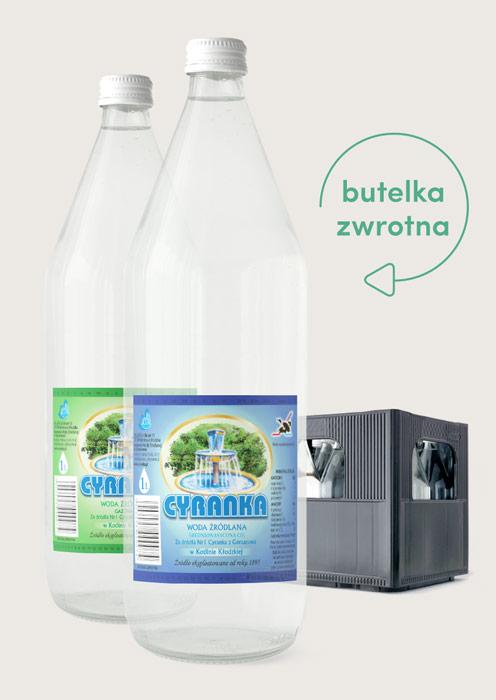 Cyranka woda do domu wrocław szklane butelki zwrotne