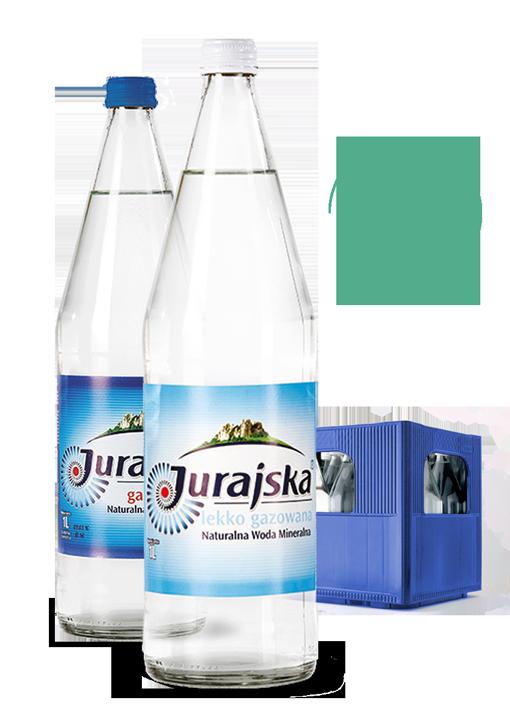 jurajska woda w szklanych butelkach zwrotnych wroclaw