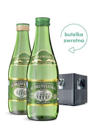Buskowianka woda w szklanych butelkach zwrotnych